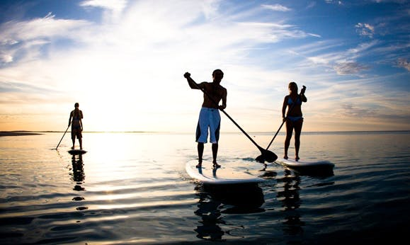 Enjoy Stand Up Paddleboard in Cockburn Harbour, Turks and Caicos Islands