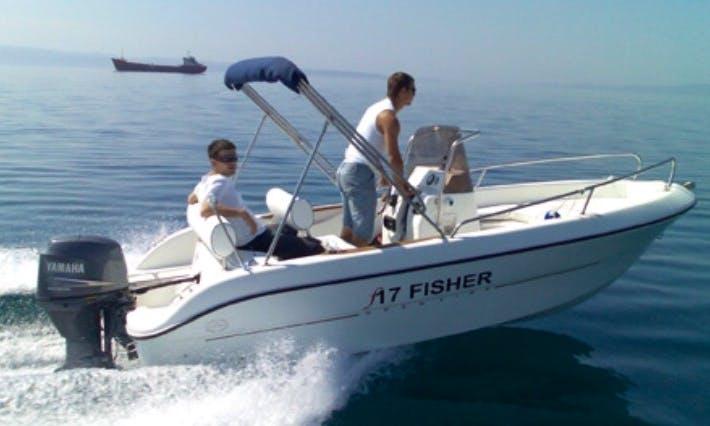 17' Fisher Center Console Rental In Lumbarda, Croatia