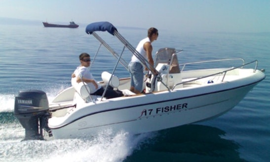 17' Fisher Center Console Rental In Lumbarda, Croatia