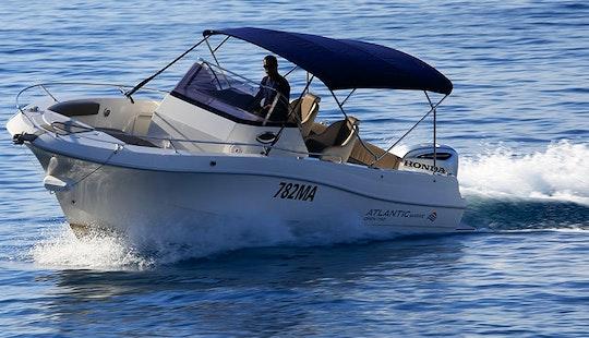 Rent A 23' Atlanic Marine 750 Deck Boat Rental In Makarska, Croatia