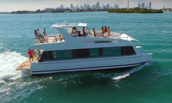 48' House Boat Catamaran In Miami