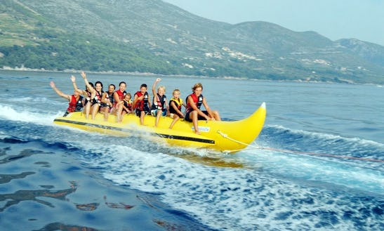 Enjoy Banana Rides At Trstenica Beach In Orebić, Croatia