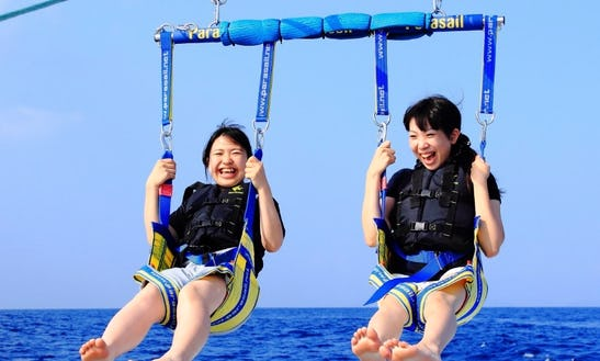 Enjoy This Exciting Parasailing Ride In Okinawa-ken, Japan