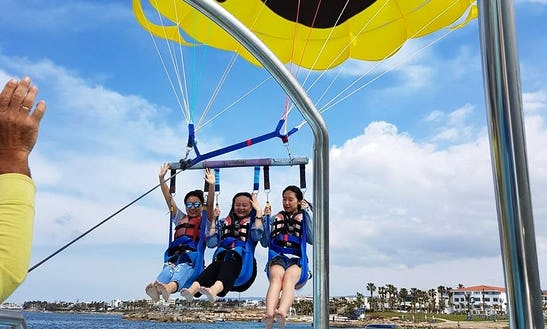 Enjoy Parasailing In Paphos, Cyprus For 3 Pax