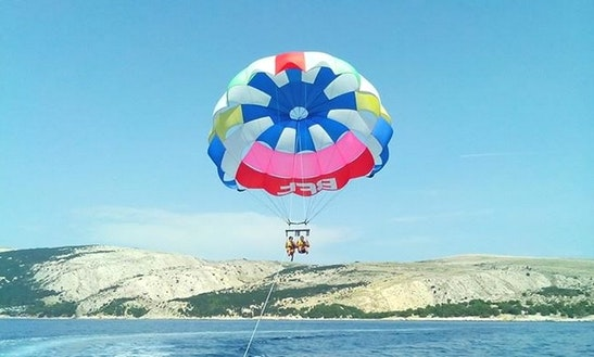 Enjoy Parasailing In Baška Voda, Croatia