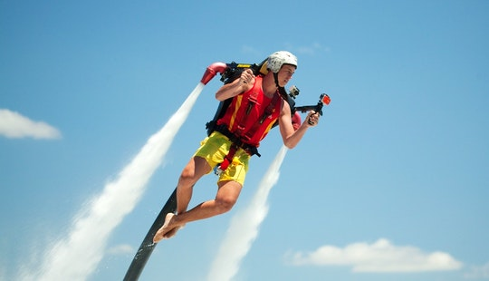 Enjoy Jet Pack In Nusa Dua, Bali, Indonesia