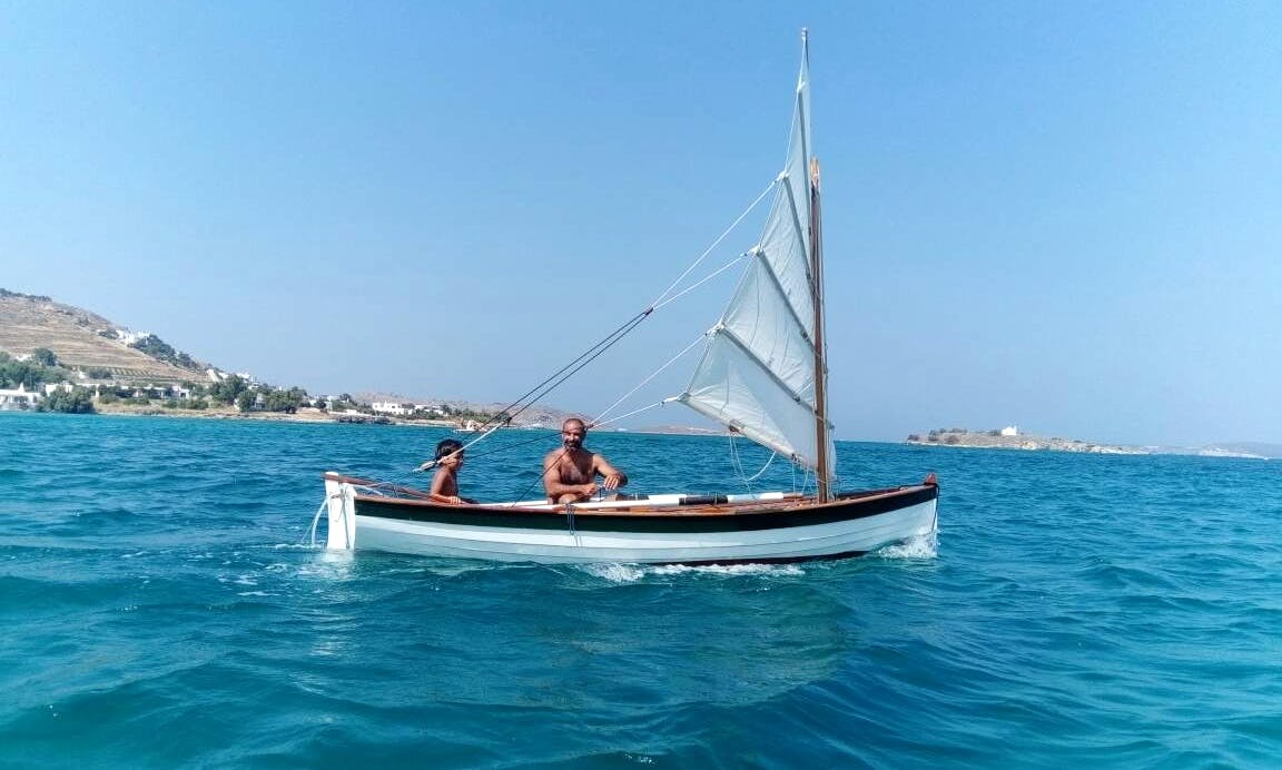 Sailing Row Boat for 3 People in Paros