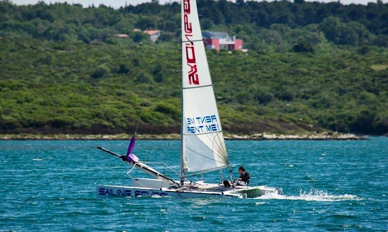 Rent 18' Beach Catamaran in Medulin, Croatia