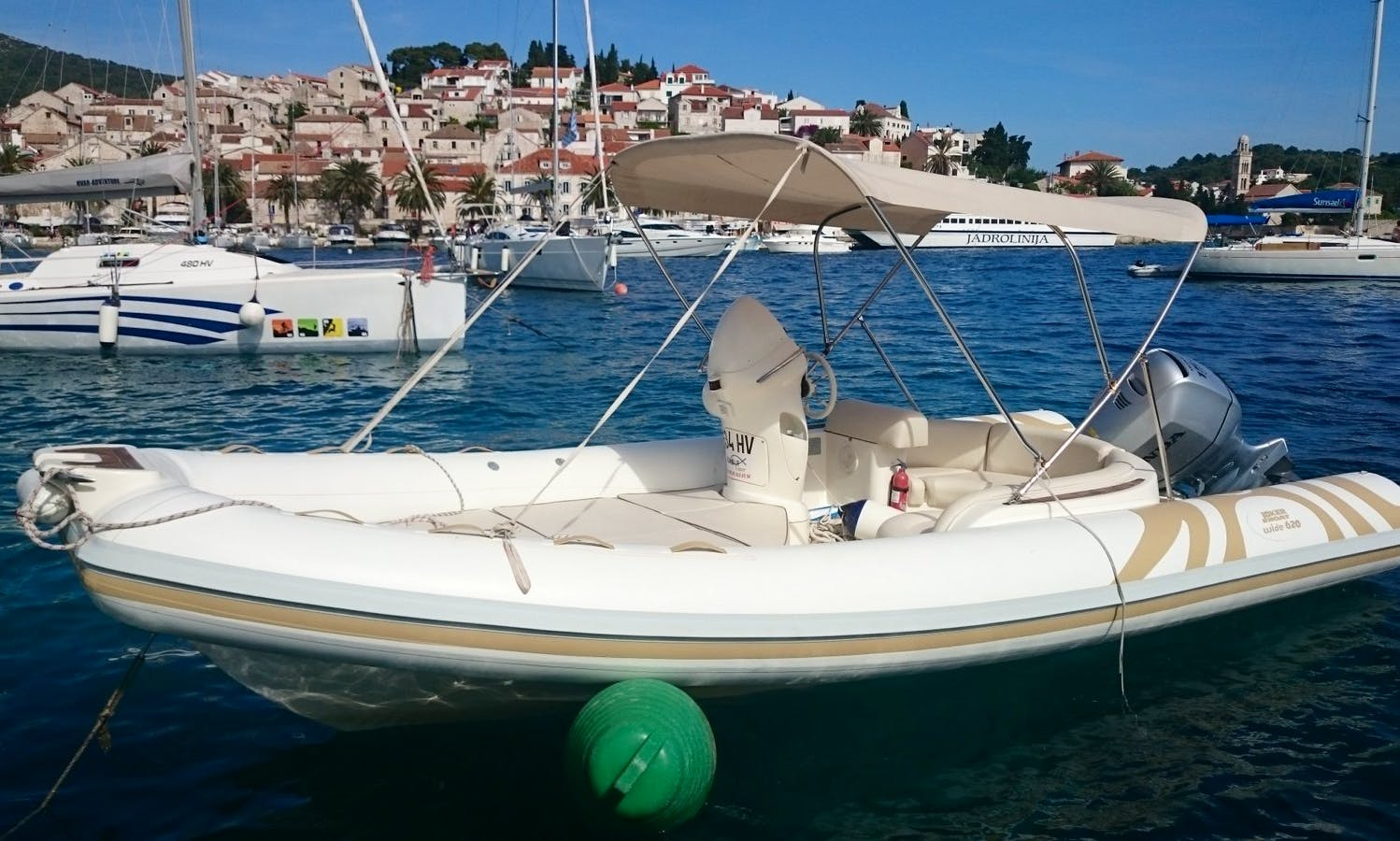 Rent 20' Joker Wide 150hp Rigid Inflatable Boat in Hvar, Croatia