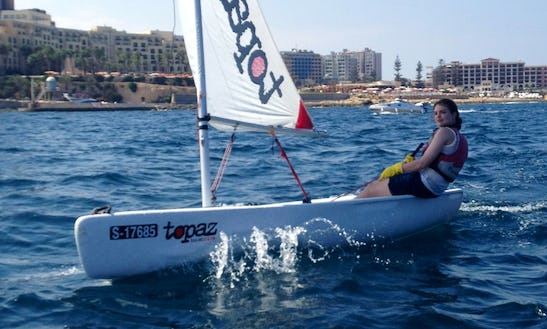 Rent Topper Topaz Sailing Dinghy In Rabat, Malta