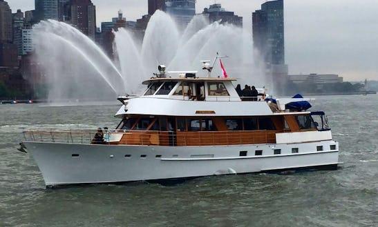 1973 Classic Stephens Motor Yacht Charter In New York
