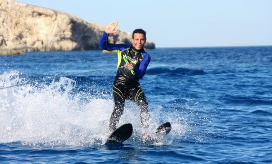Enjoy Water Skiing In San Ġiljan, Malta