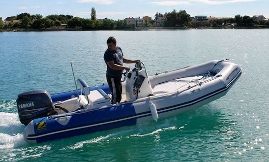 Rent 16' Rigid Inflatable Boat In Sukošan, Croatia