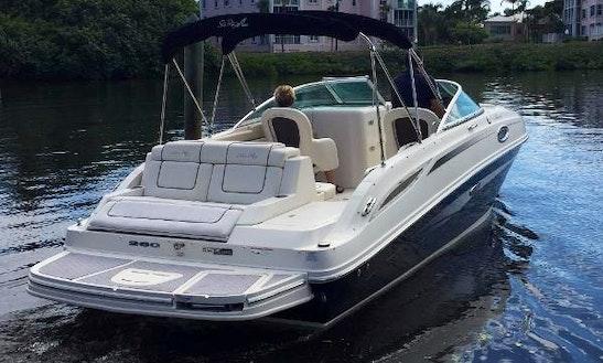 26' Sea Ray Sundeck Bowrider Rental In Aventura, Florida