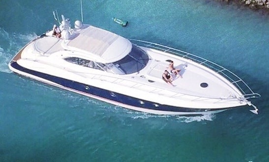 Luxury Yacht Sunseeker Predator 60 Ft For Rent In Cancun & Isla Mujeres Mexico