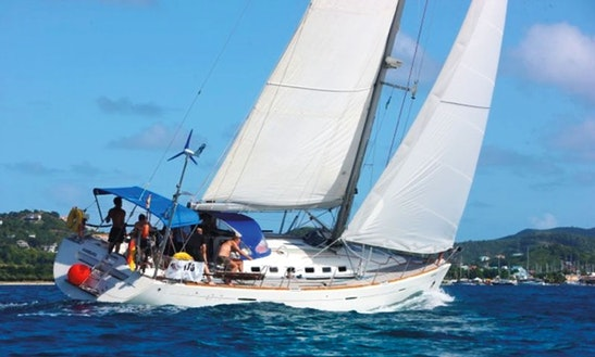 Charter 47' Sunrise Cruising Monohull In Sainte-anne Le Marin, Martinique