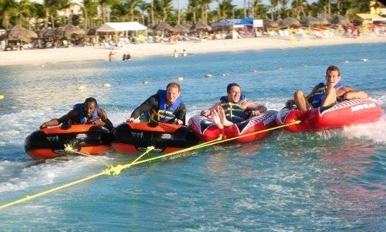 Enjoy Tubing At Eagle Beach In Noord, Aruba