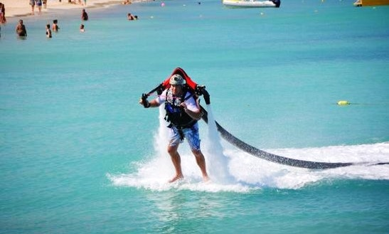 Enjoy Jetpacking At Eagle Beach In Noord, Aruba!