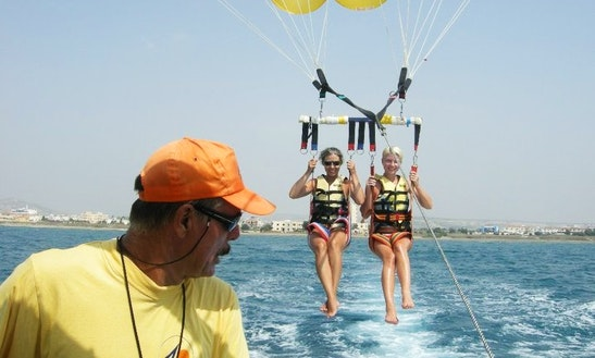 Enjoy Parasailing In Oroklini, Larnaca