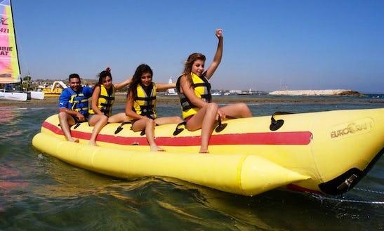 Enjoy Banana Rides In Oroklini, Larnaca