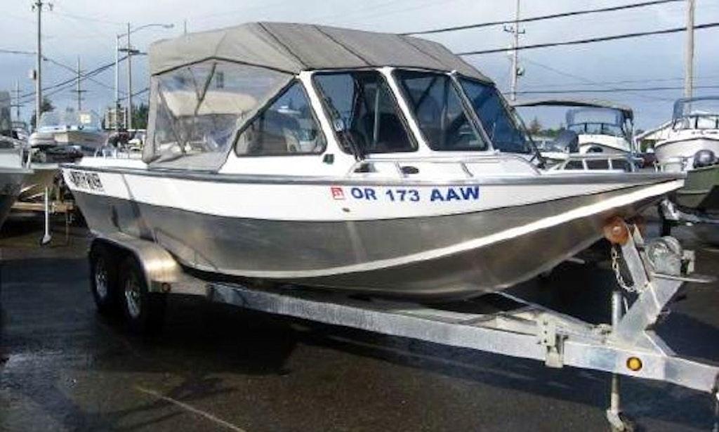 21 ft ski or fish aluminum jet boat north river commander for Aluminum fish and ski boats