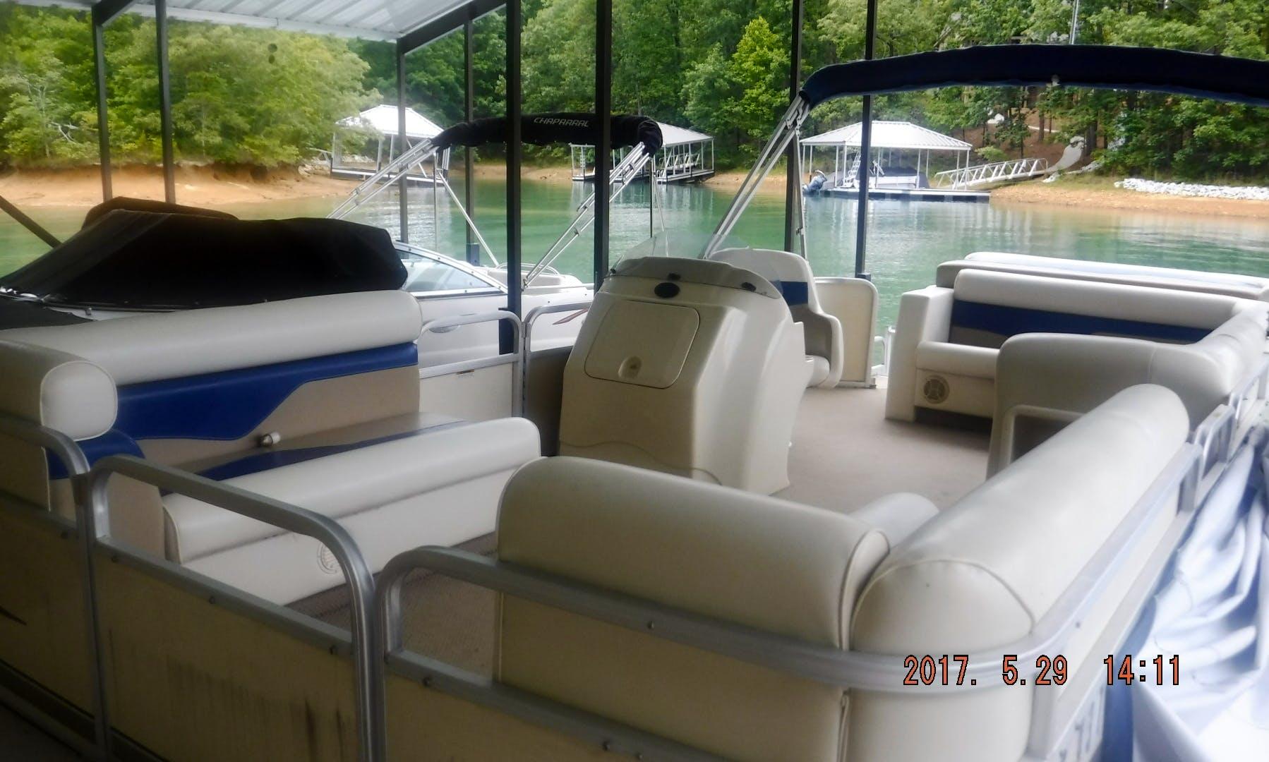 Tuscany Sweetwater Pontoon for Rent on Lake Keowee