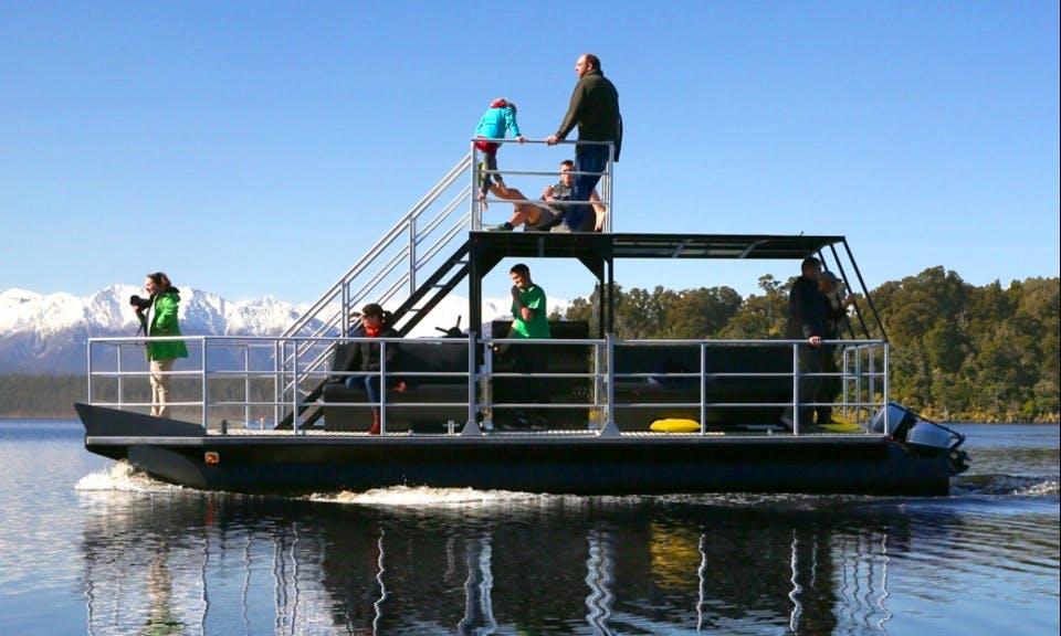 Eco Adventure Boat Tour on Lake Mahinapua, West Coast, New Zealand