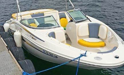 Put yourself in this boat!! Enjoy this 19 ft Sea Ray Bowrider on Lake Travis. Have a BLAST on the water.