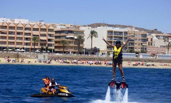 Enjoy Flyboarding In Garrucha, Spain