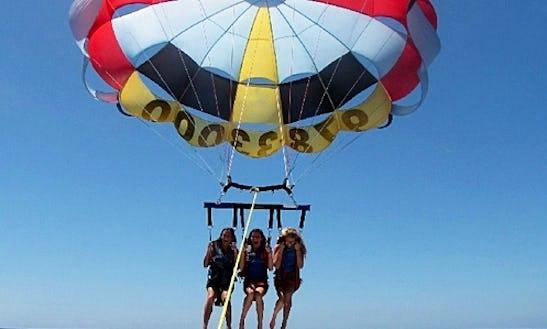 Enjoy Tripple Parasailing In Yeroskipou, Cyprus