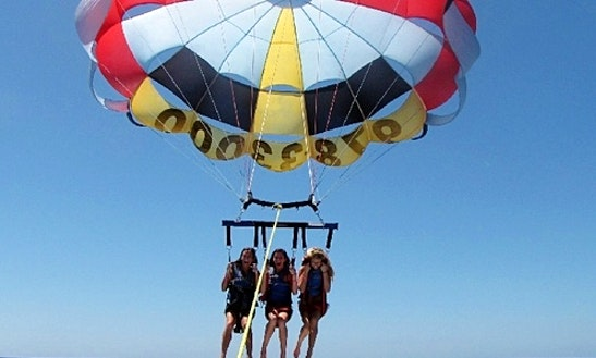 Enjoy Tripple Parasailing In Yeroskipou, Cyprus