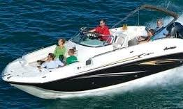 26ft Hurricane SunDeck Boat Rental in Stuart, Florida