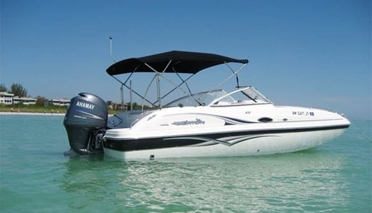 Book This 23' Hurricane Deck Boat In Stuart, Florida