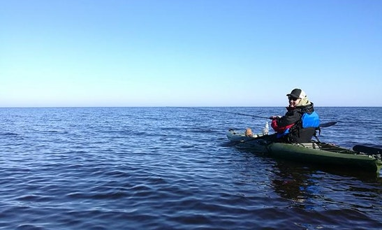 Enjoy Fishing In Upesciems, Latvia On A Kayak