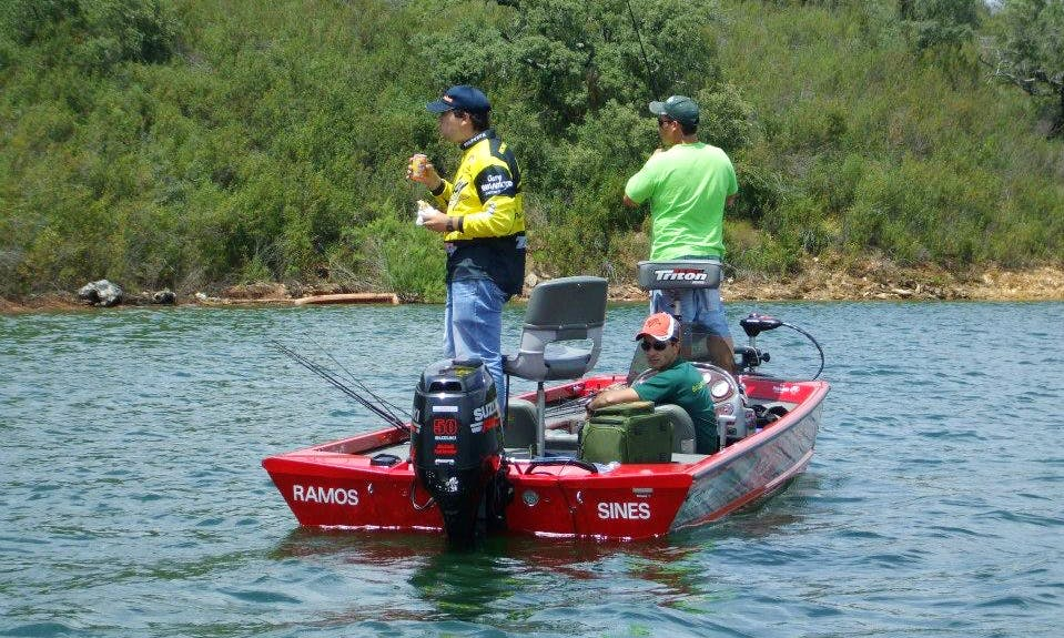 Enjoy Fishing on a 3 Person Bass Boat Charter in Beja, Portugal
