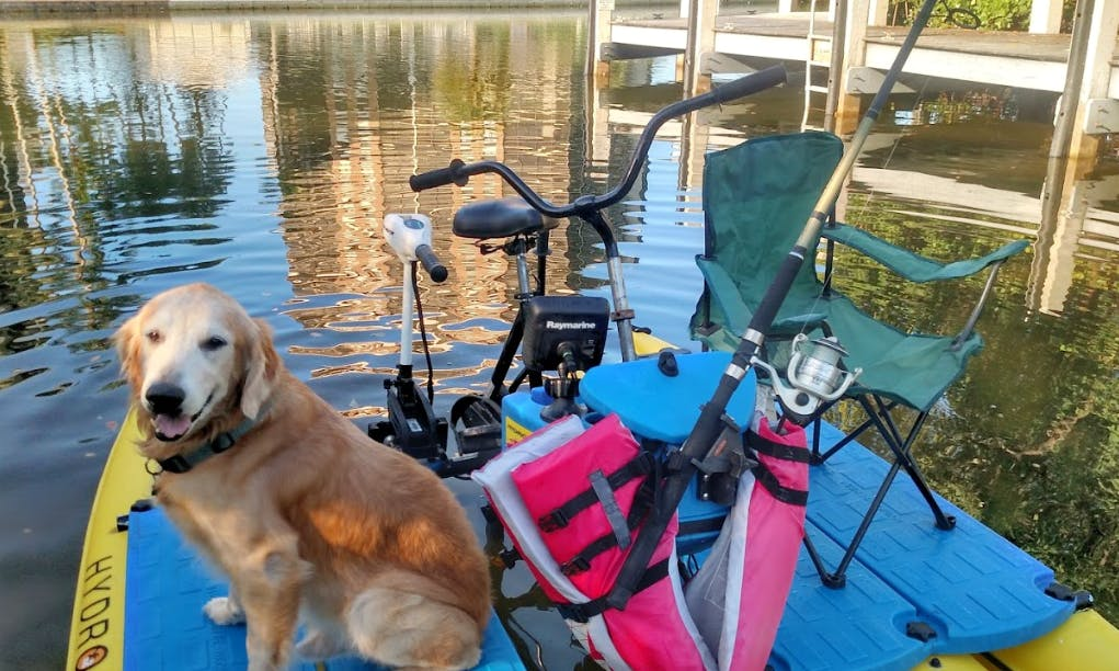High-Tech Hydrobike Rental in Naples - fish finding & trolling motor included!