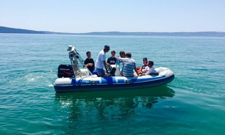 Rent 16' Maestral Scorpio Rigid Inflatable Boat in Kaštel Gomilica, Croatia