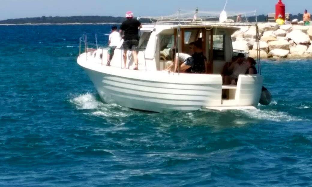 Private cruise near and through aquatorium of Fažana, Croatia