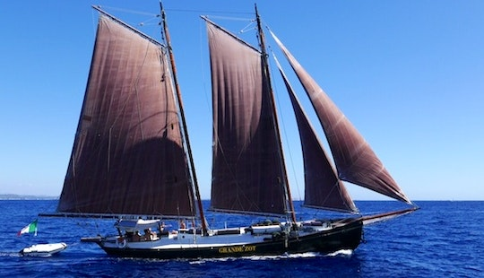 Enjoy Sightseeing Tour In Alghero, Sardegna On 50' Grande Zot Schooner