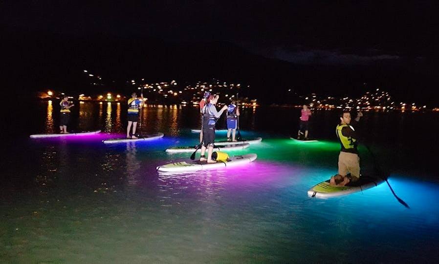 NightSUP Guided Night Paddle boarding in Akaroa, New Zealand