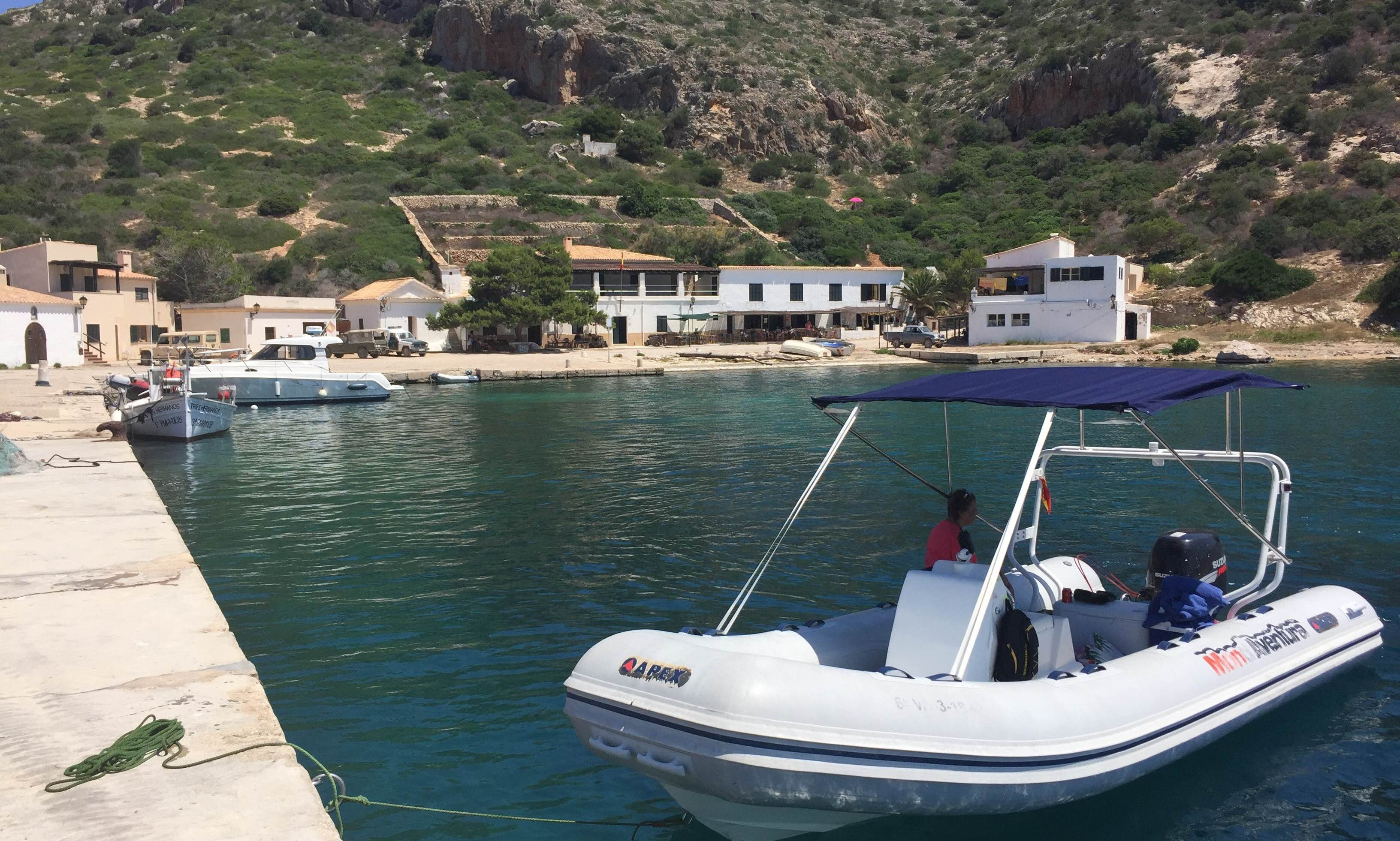 2008 Apex A20 Semi-rigid Inflatable Boat for Rent in Cala Sant Vicenç, Spain