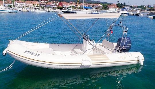 Rent 18' Nuova Jolly 545 Rigid Inflatable Boat In Bibinje, Croatia