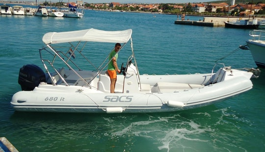Rent 23' Sacs 680it Rigid Inflatable Boat In Bibinje, Croatia