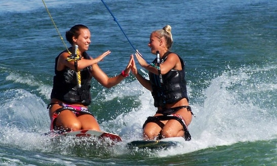 Enjoy Kneeboarding In Exmouth, Western Auastralia