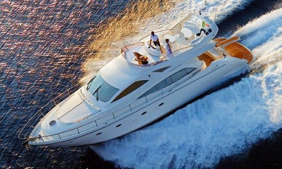 Charter 56' Aicon Fly Power Mega Yacht in Milazzo, Sicilia
