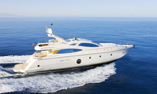 Charter 64' Aicon Fly Power Mega Yacht In Milazzo, Sicilia