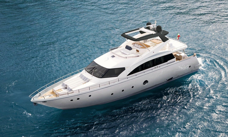 Charter 75' Aicon Fly Power Mega Yacht in Milazzo, Sicilia