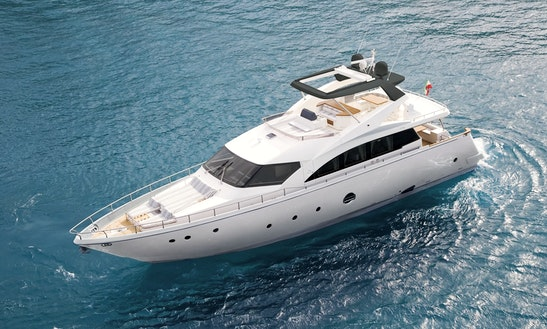 Charter 75' Aicon Fly Power Mega Yacht In Milazzo, Sicilia
