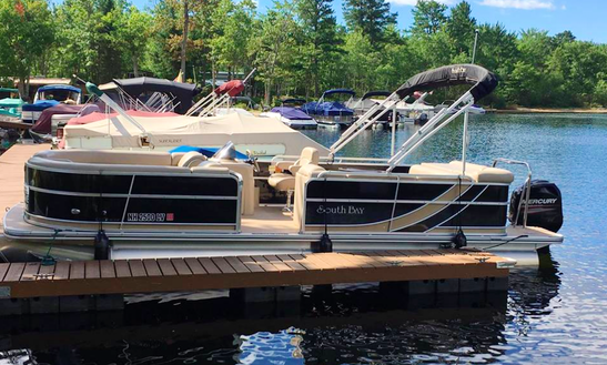 24' Southbay Pontoon Rental In Ossipee, New Hampshire