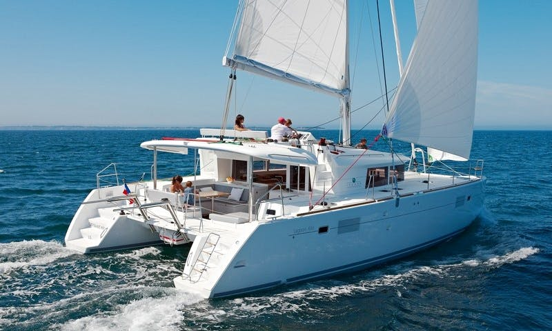 Charter 46' Butterfly Lagoon Cruising Catamaran at Kornati Islands, Croatia